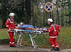 Abtransport eines Patienten