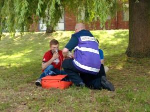 Betreuung von Unverletzten